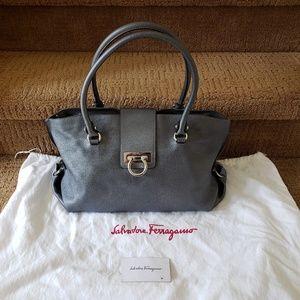 Salvatore Ferragamo Soft Leather Shoulder Tote Bag